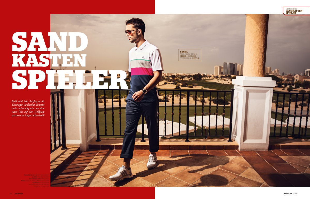 Dubai Editorial Els Club, Golf Punk Magazin